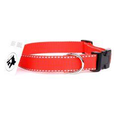 Fényvisszaverő nejlon nyakörv, piros 2,5 cm x 38 - 60 cm
