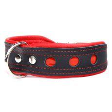 Neo fényvisszaverő nyakörv, fekete - piros 4 cm x 50 - 60 cm