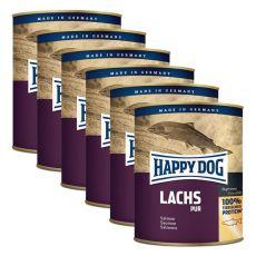 Happy Dog Pur - Lachs 6 x 750 g / lazac, 5+1 GRÁTISZ