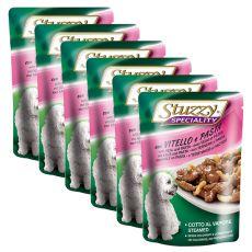 Stuzzy Speciality Dog - borjúhús tésztával, 6 x 100 g