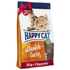 Happy Cat Adult Atlantik-Lachs 10 + 2 kg GRÁTISZ