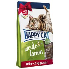 Happy Cat Supreme Adult Weide-Lamm 10 + 2 kg GRÁTISZ