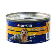 Konzerv ONTARIO Adult kutyáknak, csirkedarabok + zúza, 200g