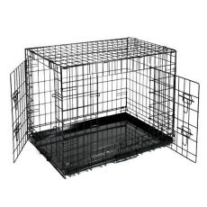 Dog Cage Black Lux ketrec - 2x ajtó, S - 61,5 x 42,5 x 50 cm