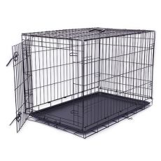 Dog Cage Black Lux ketrec, XL - 107,5 x 74,5 x 80,5 cm