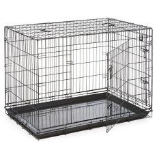 Dog Cage Black Lux ketrec - 2x ajtó, XL - 107,5 x 74,5 x 80,5 cm