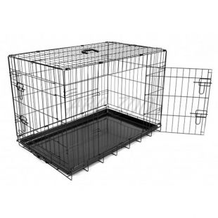 Dog Cage Black Lux ketrec - 2x ajtó, L - 91 x 59 x 65,5 cm