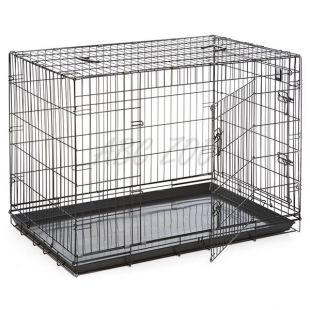 Dog Cage Black Lux ketrec - 2x ajtó, XXL - 125,8 x 74,5 x 80,5 cm