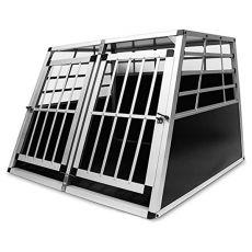 Alumínium kutyaszállító-ketrec autóba - 104 x 91 x 69,5 cm