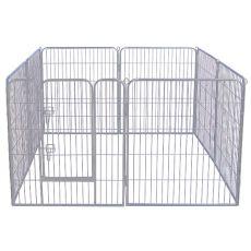 Dog Park Grey Lux kutyaovi 8-élű, XL - 80 x 91 cm