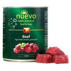NUEVO DOG Adult Beef konzerv 800 g
