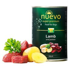 NUEVO DOG Adult Lamb & Potato konzerv 400 g