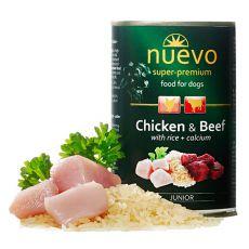 NUEVO DOG Junior Chicken & Beef konzerv 400 g
