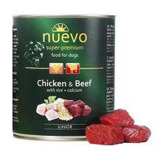 NUEVO DOG Junior Chicken & Beef konzerv 800 g