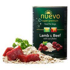 NUEVO DOG Senior Lamb & Beef konzerv 400 g