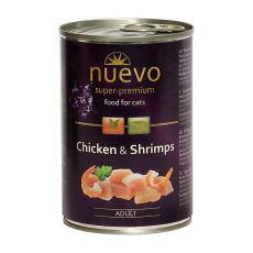 NUEVO CAT Adult Chicken & Shrimps konzerv 400 g