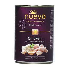 NUEVO CAT Kitten Chicken konzerv 400 g