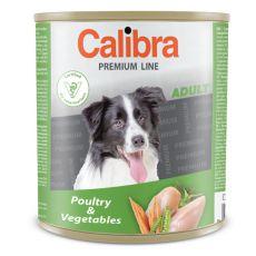 CALIBRA Premium Adult konzerv - baromfi és zöldség, 800 g