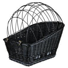 Kutyaszállító kosár kerékpárra ráccsal 35 × 49 × 55 cm