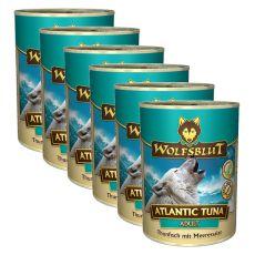 WOLFSBLUT Atlantic Tuna konzerv, 6 x 395 g