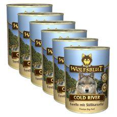 WOLFSBLUT Cold River konzerv, 6 x 395 g