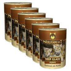 WOLFSBLUT Deep Glade PUPPY konzerv, 6 x 395 g