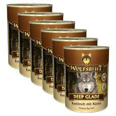 WOLFSBLUT Deep Glade konzerv, 6 x 395 g