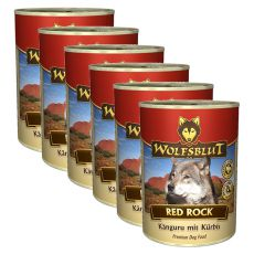 WOLFSBLUT Red Rock konzerv, 6 x 395 g