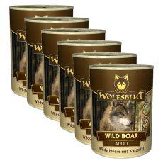 WOLFSBLUT Wild Boar konzerv, 6 x 395 g
