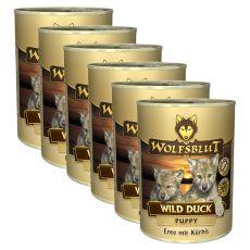 WOLFSBLUT Wild Duck PUPPY konzerv, 6 x 395 g