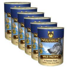 WOLFSBLUT Wild Pacific konzerv, 6 x 395 g