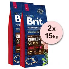 Brit Premium by Nature Adult Large 2 x 15 kg