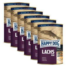 Happy Dog Pur - Lachs 6 x 375 g / lazac, 5+1 GRÁTISZ