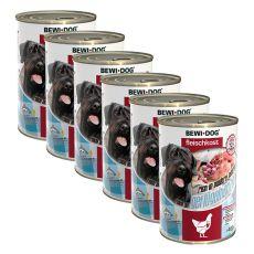 New BEWI DOG konzerv – Baromfiszívek 6 x 400 g, 5+1 GRATIS