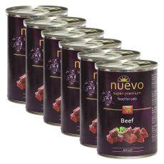 NUEVO CAT Adult Beef konzerv 6 x 400 g