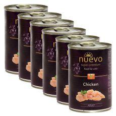 NUEVO CAT Adult Chicken konzerv 6 x 400 g, 5 + 1 GRATIS