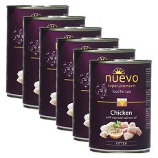 NUEVO CAT Kitten Chicken konzerv 6 x 400 g, 5 + 1 GRATIS