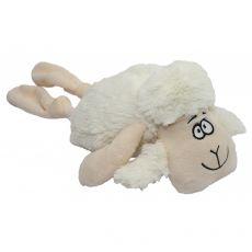 Sípoló fehér bárány plüssből, 35 cm
