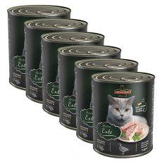 Konzerv macskáknak Leonardo, kacsahús 6 x 800 g