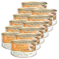 Applaws Cat Jelly - konzerv macskáknak csirkével és makrélával, 12 x 70g