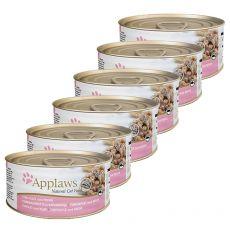 APPLAWS Cat konzerv,  tonhal  és garnéla 6 x 70g