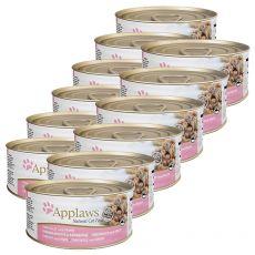 APPLAWS Cat konzerv,  tonhal  és garnéla 12 x 70g