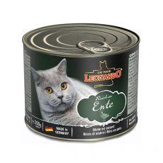 Konzerv macskáknak Leonardo, kacsahús 200 g