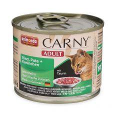CARNY ADULT eledel marhahússal, pulykával és nyúlhússal - 200 g
