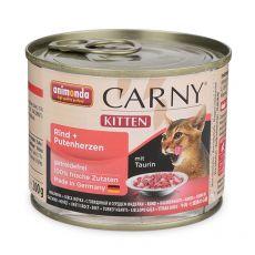 CARNY KITTEN macskaeledel marhahús és pulykaszív 200 g