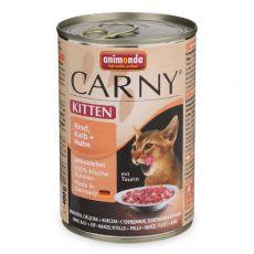 CARNY KITTEN nedves macskaeledel, marha, borjú és csirke 400 g