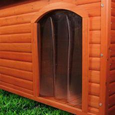 Ajtó kutyaházhoz, műanyag - 33 x 44 cm