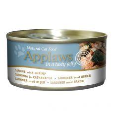 Applaws Cat konzerv, szardella garnélarákkal aszpikban 70 g