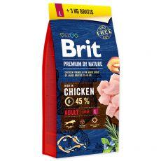 Brit Premium by Nature Adult Large 15 kg + 3kg GRÁTISZ