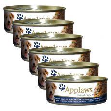 APPLAWS dog konzerv csirke, lazac és zöldség, 6 x 156g